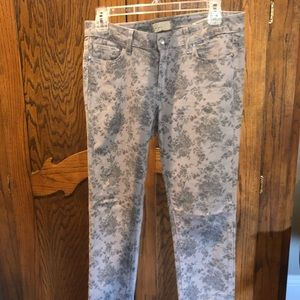 Grey Patterned Jeans